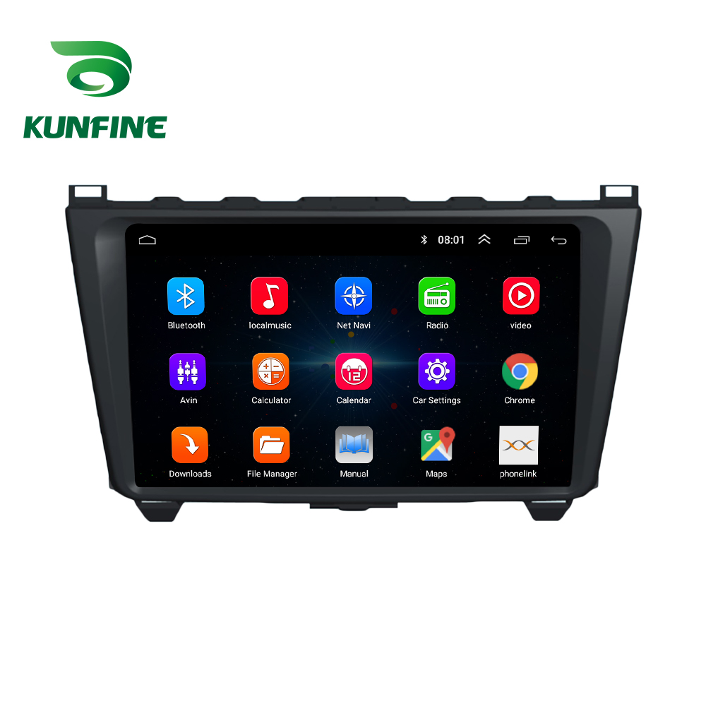 Octa Core 1024*600 Android 8.1 Car DVD GPS Navigation Player Deckless Car Stereo for Mazda 6 Core-wing 2008 2009 2010 2011 2012