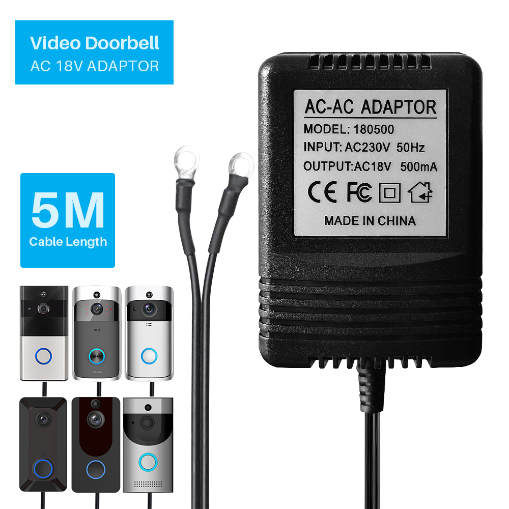 18V AC Power Adapter 220V-240V Transformer Charger For Wifi Wireless Video Doorbell IP Camera Video Intercom Ring