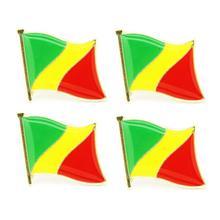 В партии 5 шт. Конго национальный флаг на булавке значок страны Lapei Pin-код
