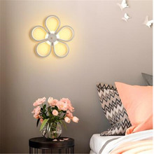 Flower Leaf Shape Wall Lamp 18W 36 LED Wall Light Rail project Square LED Bedroom Wall Lamps Home Decor Night Light