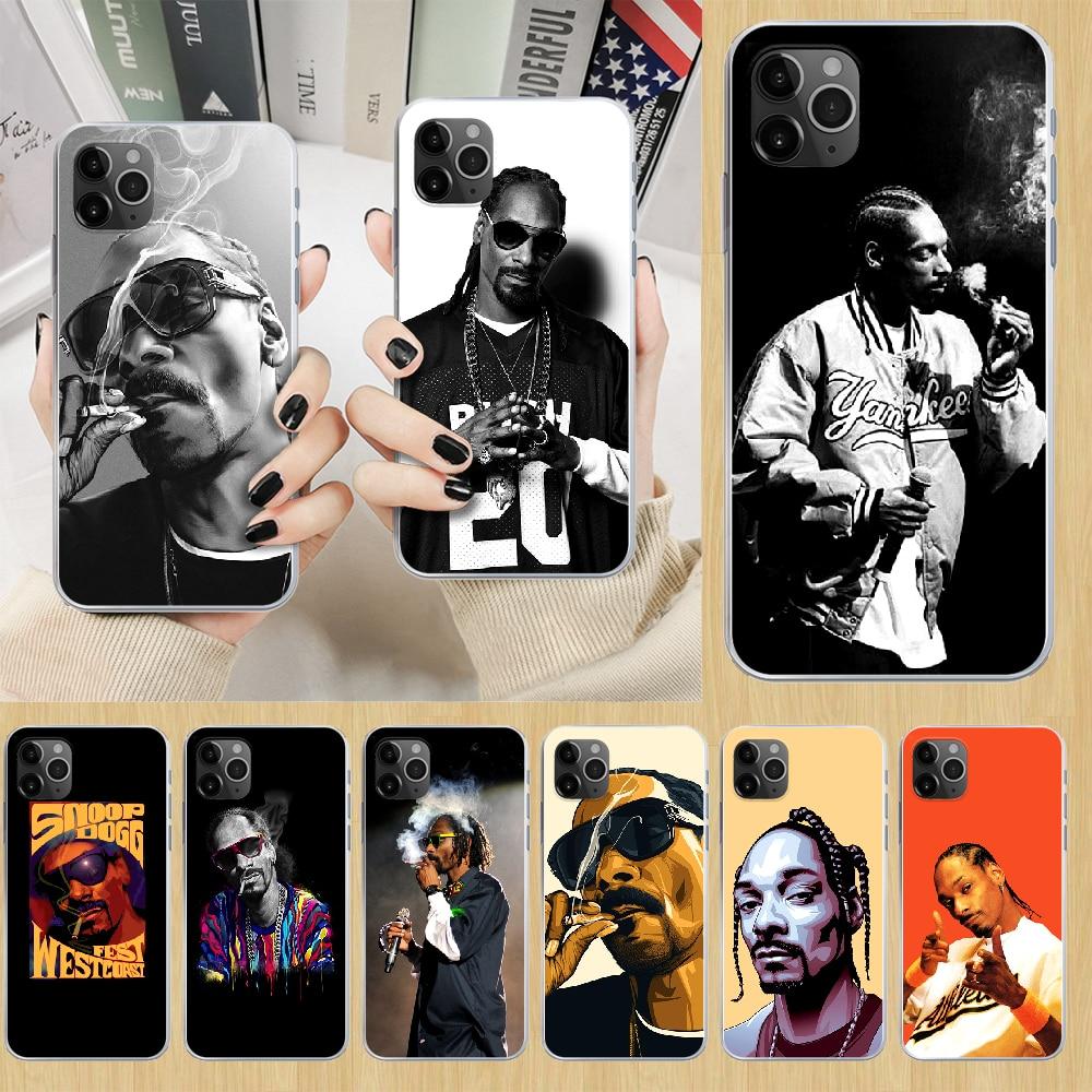 Snoop dogg rapper Phone Case cover For iphone 5 5S 6 6S PLUS 7 8 12 mini X XR XS 11 PRO SE 2020 MAX transparent hoesjes tpu