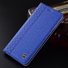 Case for Meizu Note 9 Plaid style Canvas