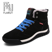 FLARUT Men Winter Shoes Outdoor Sports Snow Boots Camping Ru
