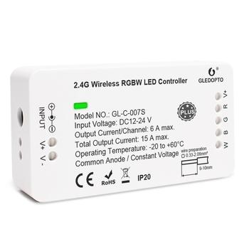 GLEDOPTO inteligentny kontroler taśmy ledowej kontroler RGBW plus kompatybilny z ZIGBEE hub Amazon echo plus app głos pilot tanie i dobre opinie CN (pochodzenie) Voice control remote control GL-C-007S Packet control 2years 360W LED Strip light ROHS 50-60Hz ZigBee 3 0