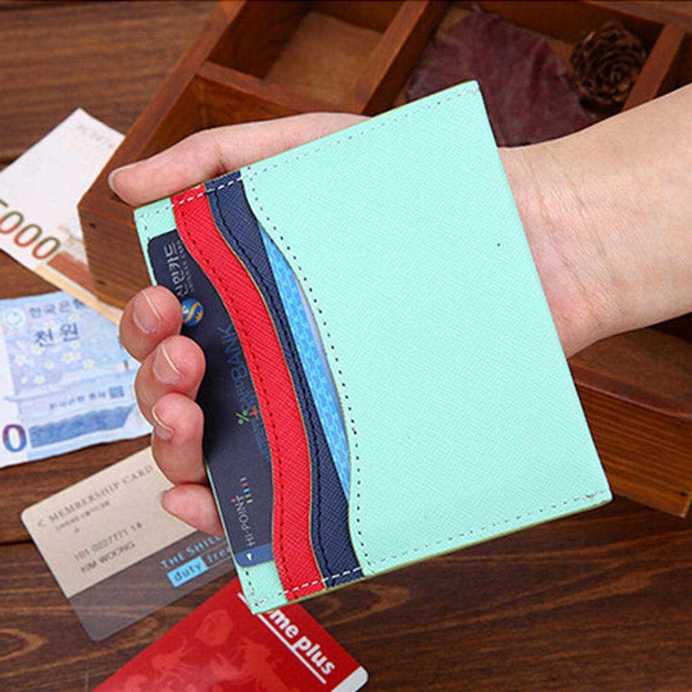 Mannen Vrouwen Leather Credit Card Holder Case Bus Kaarthouder Wallet Business Credit Cover Case Wallet #20