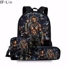 2020 New Movie Superhero Aquaman Mochilas Backpack Set for Schoolbags Orthopedic School