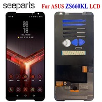 AMOLED LCD For Asus ROG Phone II ZS660KL LCD Display Touch Screen Digitizer Assembly Replacement For ASUS ZS660KL LCD Diplay