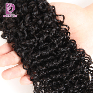 Image 4 - Racily Hair 1/3/4 Pcs Brazilian Kinky Curly Hair Bundles Human Hair Extensions Natural Black Remy Hair Weave 8 28 Inches Bundles