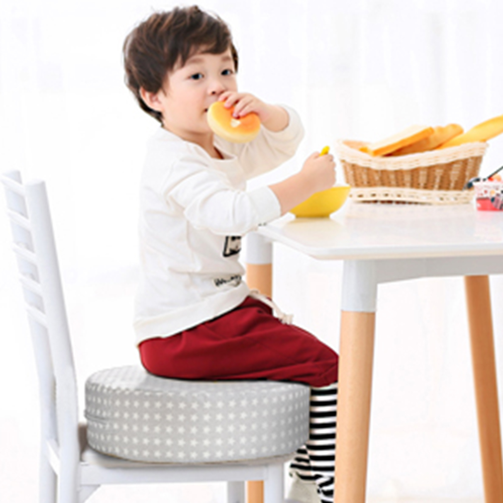 Washable With Handle Baby Kids Dismountable Assistant Anti Slip Pad Chair Booster Cushion Round Dining Easy Clean Portable