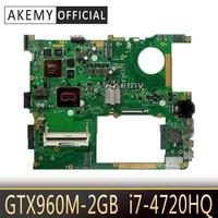ASUS ROG G771JM G771JK G771J 노트북 메인 보드 마더 보드 테스트 용 i7-4720HQ 장착 된 Akemy GTX950M/GTX960M G771JW 마더 보드