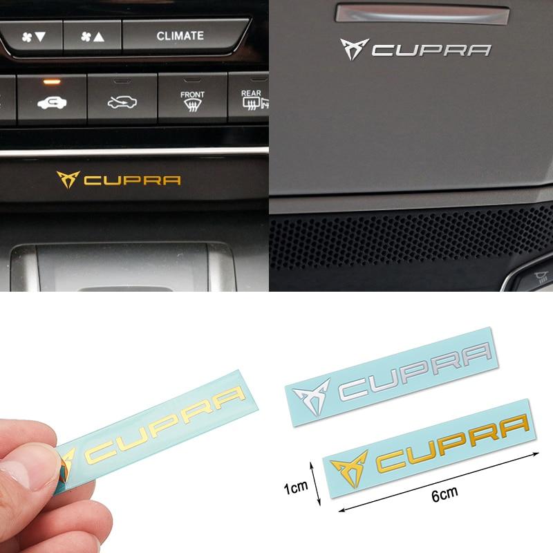 Car Styling CUPRA Emblem 3D Car Nickel Metal Stickers Badge Decoration For Seat Leon FR+ Ibiza Cupra Altea Belt Racing