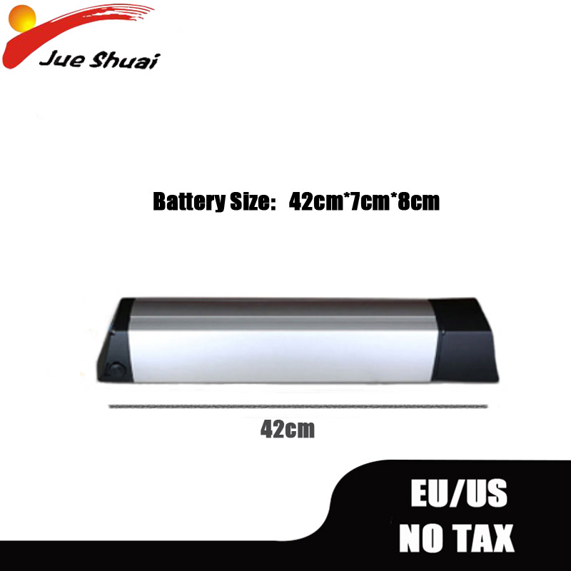 <font><b>36v</b></font> <font><b>10ah</b></font> 12a Dolphin <font><b>Lithium</b></font> <font><b>Battery</b></font> US EU No Tax With <font><b>Charger</b></font> Rear Rack Power Converter Plug For Electric Bike Road MTB Ebike image
