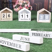 Calendrier perpétuel en bois Vintage, affichage de la Date, bloc éternel, accessoires de photographie, accessoire de bureau, décoration douce pour la maison et le bureau