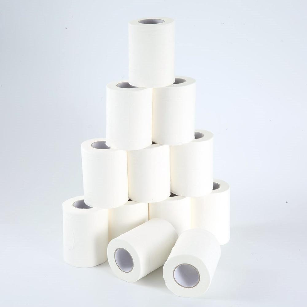 Promotion 12 Rolls Portable High Quality Toilet Paper For Office Natural Paper Towels For Family Restaurant Paper Towel Hot Sell