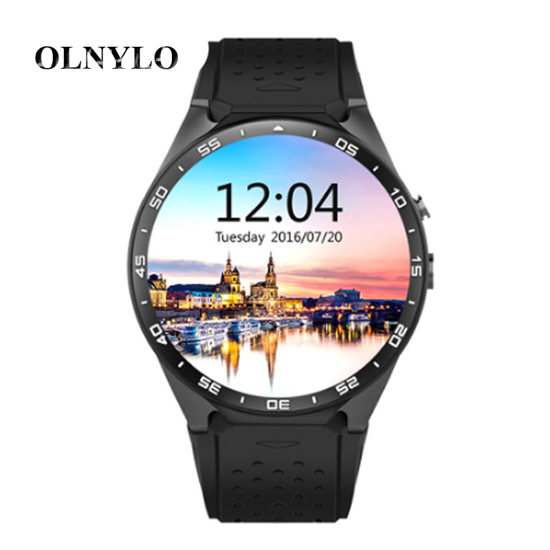 KW88 Smart Watch Android 5.1 Fitness Tracker Waterproof Smartwatch MTK6580 quad core 3g Bluetooth GPS Heart Rate Monitor phone