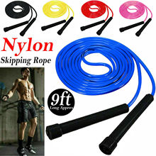 nylon covered 3 8cmx9 meter 1 5x30 combat rope muscle power training rope tug of war rope Skipping Rope Nylon Jumping Speed Exercise Handle Boxing Fitness Training Adults Jumping Rope Training Jumping Rope