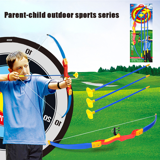 Children's Toy Simulation Bow and Arrow Military Model Plastic Sucker Arrow Parent-child Outdoor Sports Exchange Toy 9501