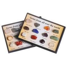 Pierres précieuses brutes naturelles | 1 boîte, cadeau, échantillons de collection, décoration de la maison, minerai d'échantillon de minéral, pierre de Quartz et de cristal polie