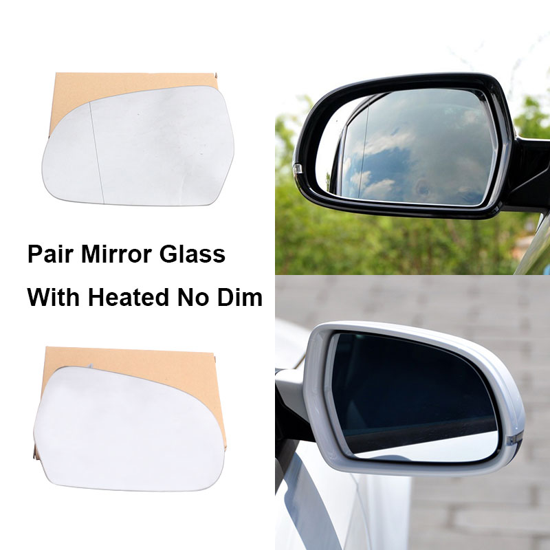 heated Audi A3 2008-2010 wing door mirror glass for Left passenger side