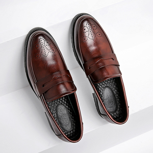 Image 5 - الرجال فستان أحذية البروغ نمط باتي الجلود أحذية الزفاف الرجال الجلود أوكسفورد الأحذية الرسمية