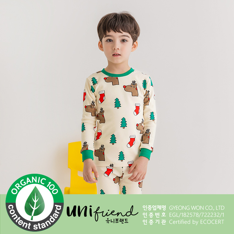 Special Offer Unifriend Origional Product Import CHILDREN'S Underwear Suit Baby Long Underwear Thick Brushed Slim Fit