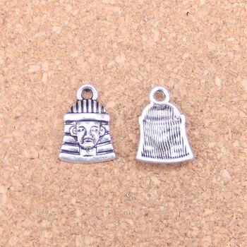 145 قطعة السحر المصري الملك توت 16x11 مللي متر المعلقات العتيقة ، Vintage مجوهرات الفضة التبتية ، DIY بها بنفسك ل قلادة سوار