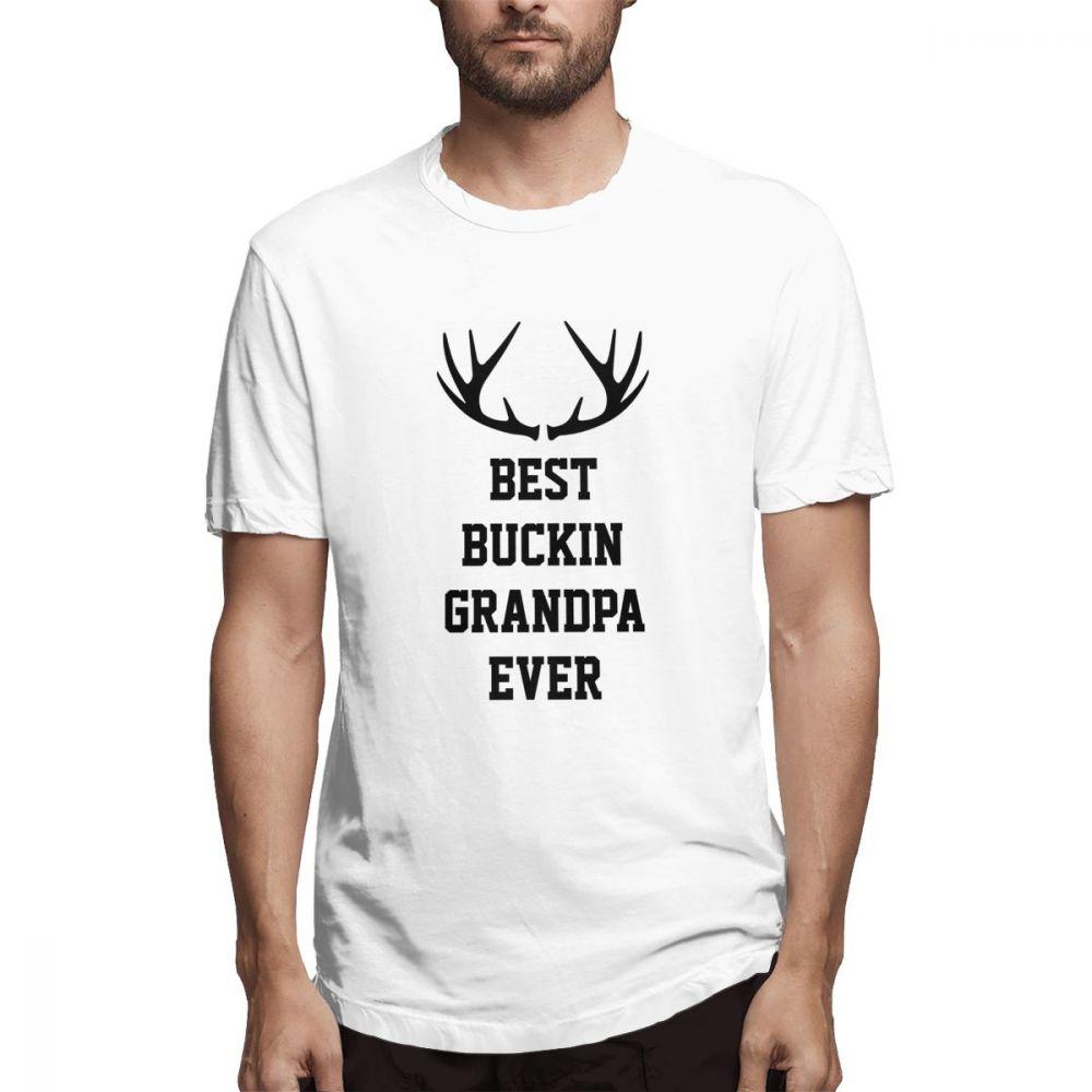 Best Buckin Grandpa Ever Casual O-Neck Mens Short Sleeve T-shirt 100% Cotton Tee Shirt Printed