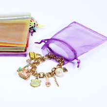 50pcs 7x9 9x12 10x15 11x16 13x18CM Organza Bags Jewelry Packaging Bags Wedding Party Decoration Drawable Bags Gift Pouches