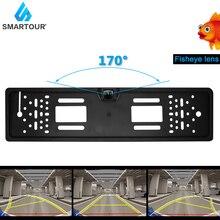 Smartour 170 Grad Wasserdichte Europäische Lizenz Platte Rahmen Backup Auto Anzahl Rückansicht Kamera 12LED Nachtsicht Auto styling