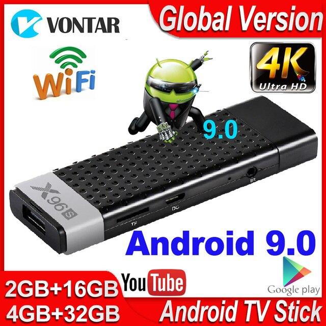 X96s Smart TV Box Android 9.0 TV Stick 4GB RAM DDR3 Mini TV Dongle Amlogic S905Y2 2.4G&5G Wifi BT4.2 60fps 4K TVBOX Media Player