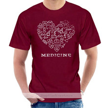 LOVE MEDICINE WHITE STUDENT TEACH PROFESSOR MEDS Mens Blue T-Shirt @005672