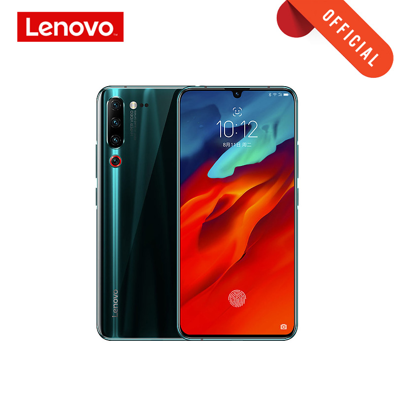 "Smartphone Global Rom Lenovo Z6 Pro Snapdragon 855 téléphone portable 8GB 128GB 2340*1080 6.39 ""écran OLED 48MP AI 4 caméra 4000mAh"