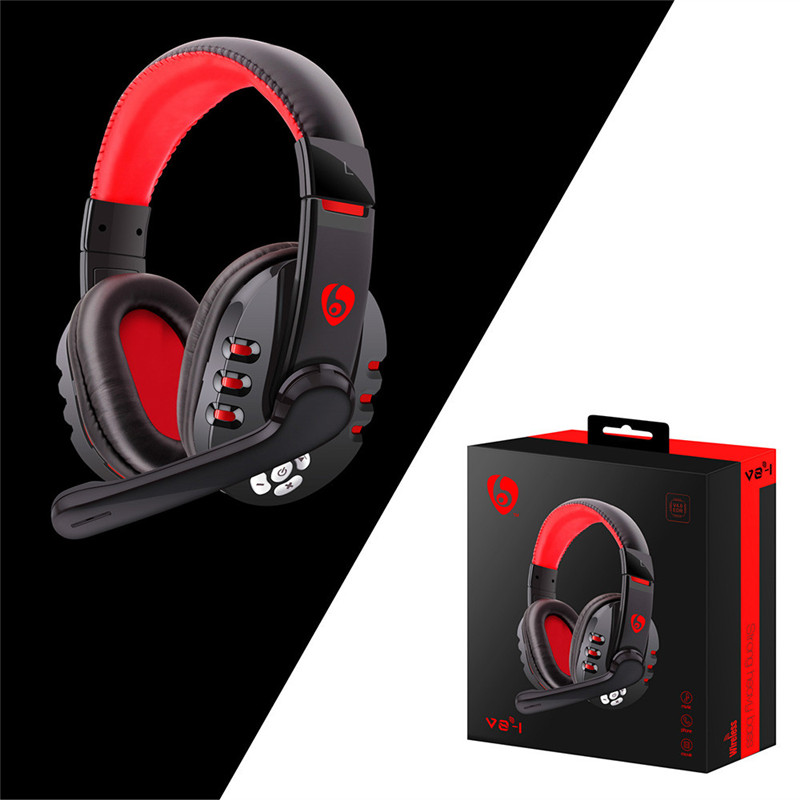 Adjustable Wireless Gaming Headset With Mic Bluetooth Headphone Hi Fi Surround Hands Free Call For Pc Laptop Ps4 Xbox One Bluetooth Earphones Headphones Aliexpress