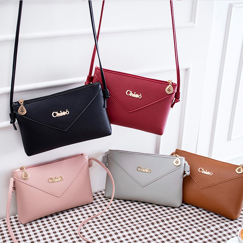 mini small square bag 2020 fashion shoulder bags for women classic Cute student leather Simple Korean version messenger envelope