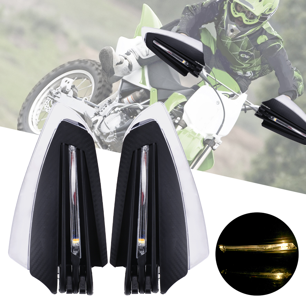 LEEPEE 22mm 7/8 Motorcycle Hand Guards with Turn Signal Light 1 Pair Universal Windproof Motorcycle LED Hand Guard ShieldFalling Protection   -