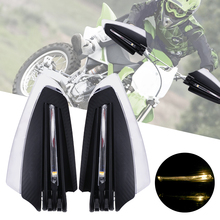 LEEPEE 22mm 7/8 Motorcycle Hand Guards with Turn Signal Light 1 Pair Universal Windproof Motorcycle LED Hand Guard Shield