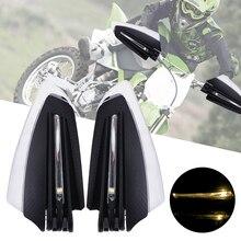 LEEPEE 22mm 7/8 Motorrad Hand Guards mit Blinker Licht 1 Paar Universal Winddicht Motorrad LED Hand Guard Shield