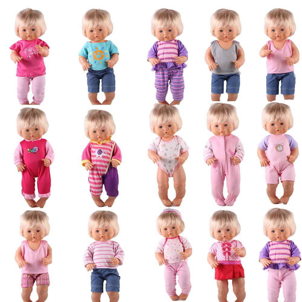 41cm Nenuco Doll Clothes Nenuco Ropa Y Su Hermanita 15 Styles Jumpsuits Dresses Outfits For 16 Inch My Little Nenuco Doll