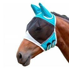 Верховая съемная сетчатая Маска с носовой Покров лошади летают маска коня, маска для лица анти-москитной анти-УФ нос