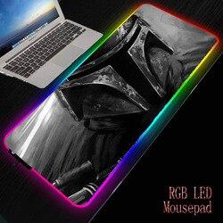 Mairuige DIY RGB podkładka pod mysz do gier duża podkładka komputerowa gwiezdne wojny Gamer klawiatura s USB Mause Mat