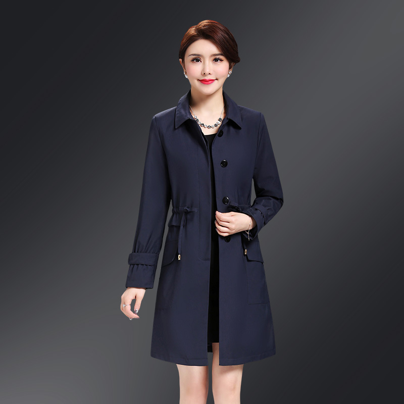 Plus size Autumn Women Long   Trench   Coat Women Korean Long sleeve With Pocket Single-breasted Casual Windbreaker Overcoat Female