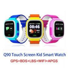 Q90 GPS Child Smart Watches Phone LBS Position Tracker Children Watch Touch screen Kids WIFI  BDS Passometer APGS SmartWatche