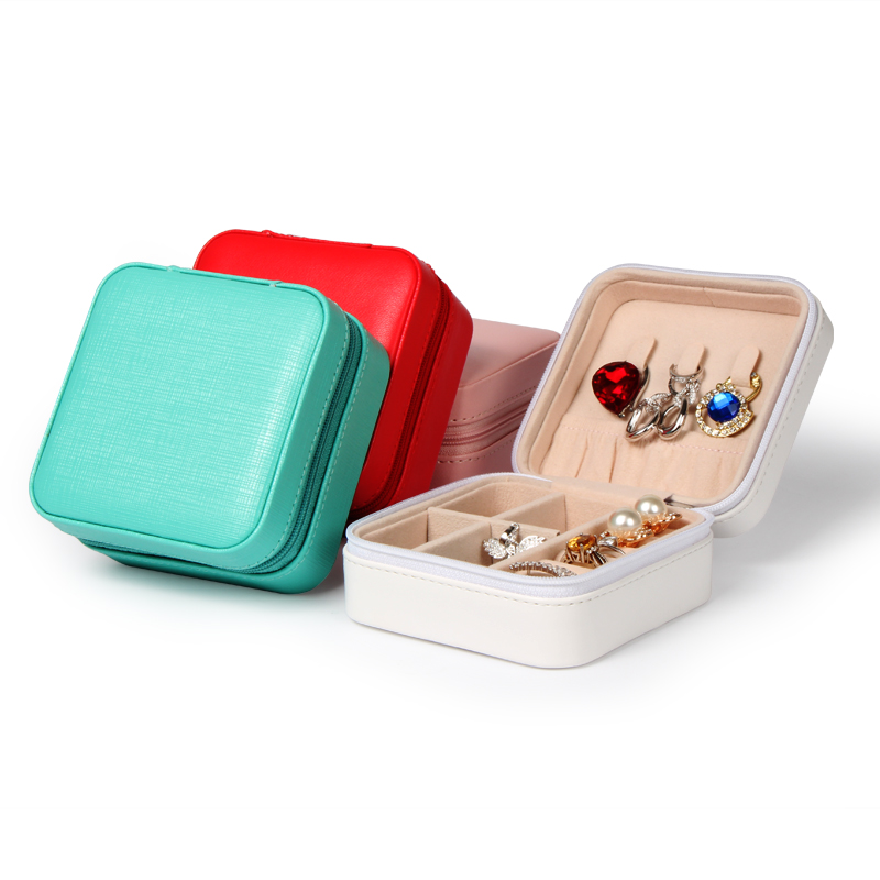 TA MINGREN Small Watch Lipstick Storage Box Women Gift Pu Leather Travel Jewelry Organizer