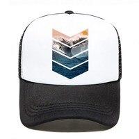 Touca de surf com logo, chapéu personalizável de espuma de malha unissex para uso no verão