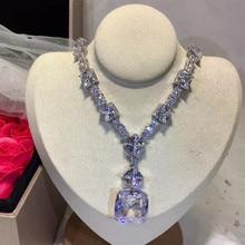 Дизайнерские Модные ювелирные изделия из меди 3а кубического циркония вечерние ожерелья