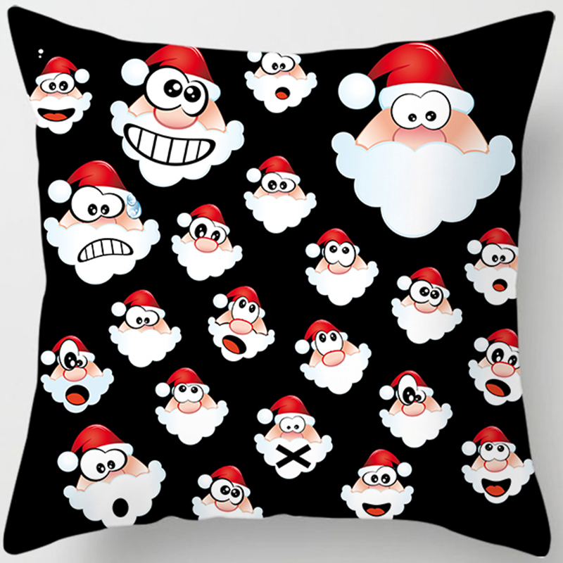 Christmas differents expression pillow cases women men square Pillow case cute cartoon covers size 45*45cm