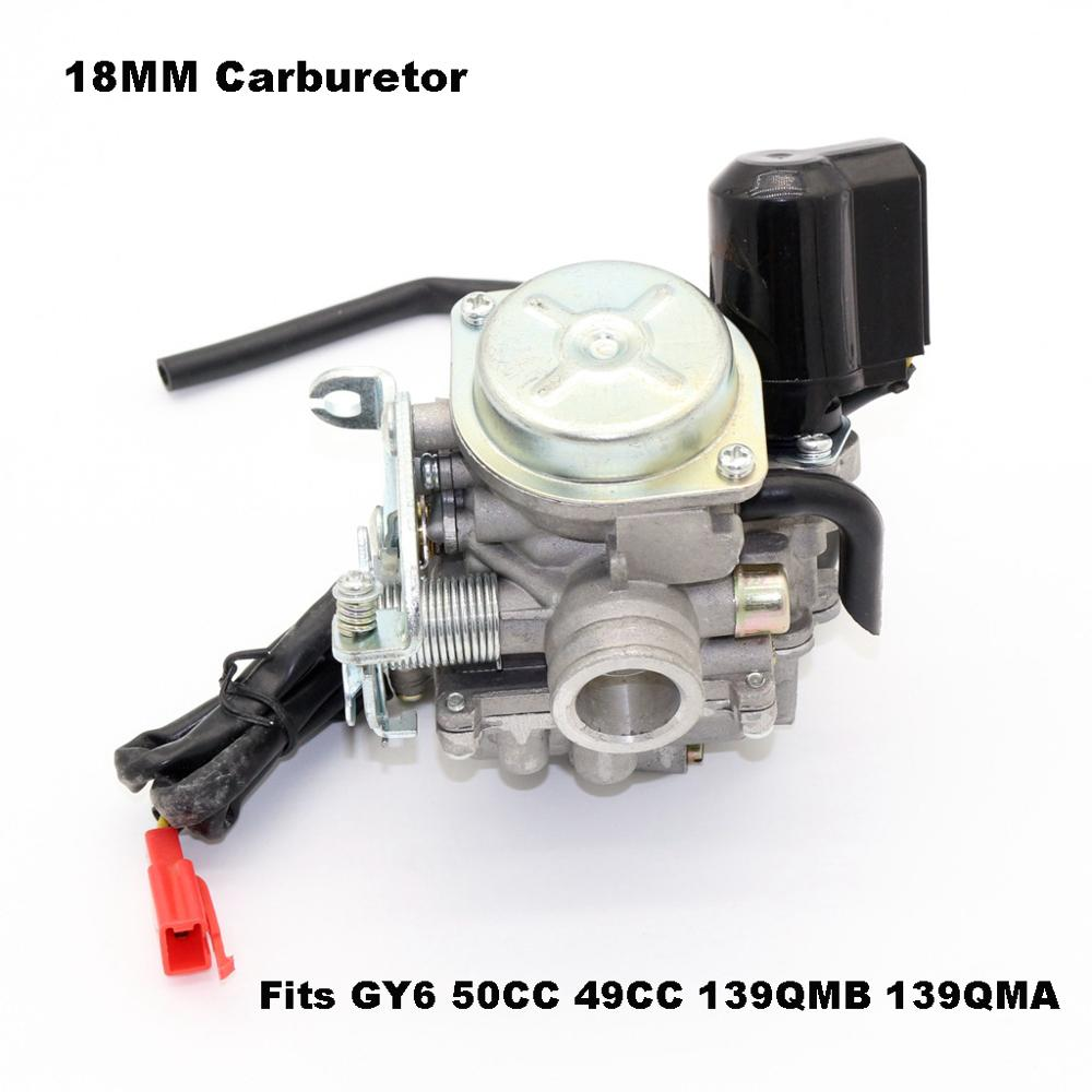 18MM <font><b>Carburetor</b></font> For <font><b>GY6</b></font> <font><b>50CC</b></font> 49CC 139QMB 139QMA PD18J Carb <font><b>Carburetor</b></font> Carb Quad Scooter Motorcycle Accessories image