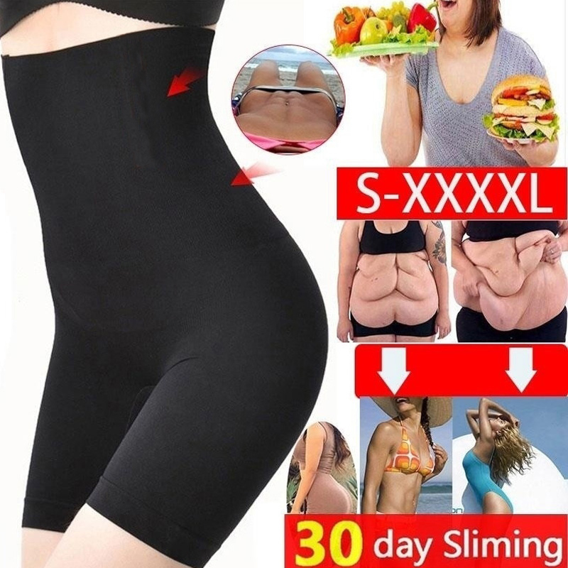 Amazing! Women Lose Weight Fat Burning High Waist Underwear Shaping Underpants Seamless Tummy Control Panty Body Shapers Corset