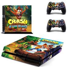 Crash Bandicoot N Sane Trilogy PS4สติกเกอร์Play Station 4สติกเกอร์ผิวสำหรับPlayStation 4 PS4คอนโซลและคอนโทรลเลอร์สกิน