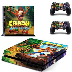 Image 1 - Crash Bandicoot N Sane Trilogy PS4 Stickers Play station 4 Skin Sticker Decal For PlayStation 4 PS4 Console & Controller Skins